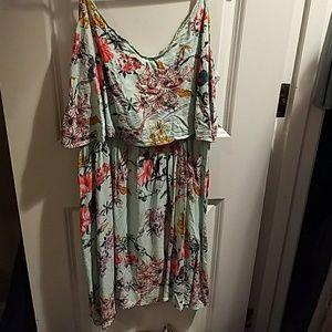 Hm spaghetti strap floral dress